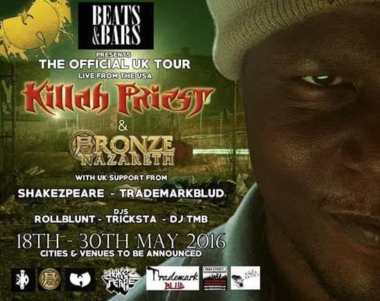 Killah Priest & Bronze Nazareth w/ Support From DeadSoundz, Trademark Blud, DJ Tricksta and 1 More Support Act