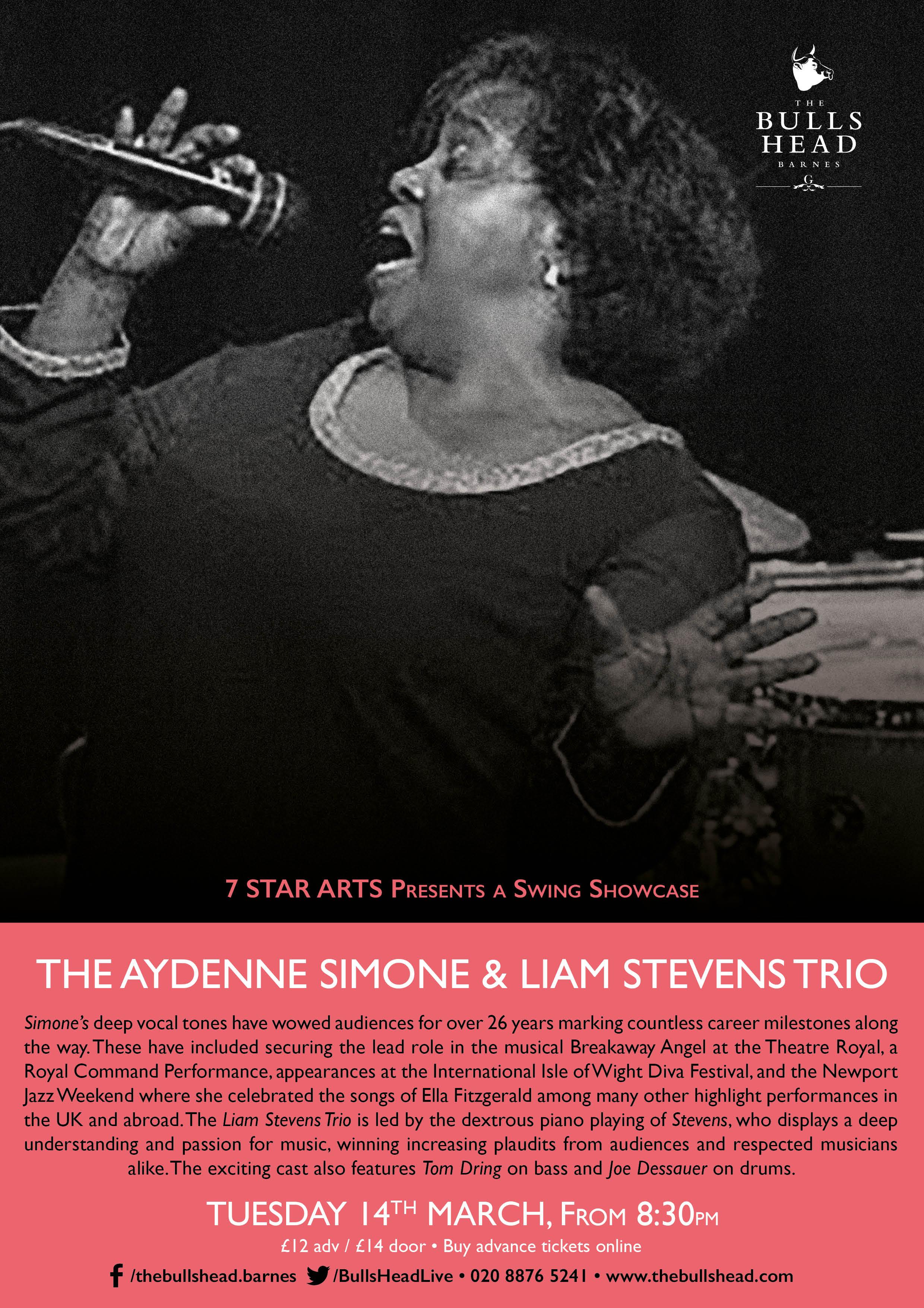 The Aydenne Simone & Liam Stevens Trio Swing Showcase