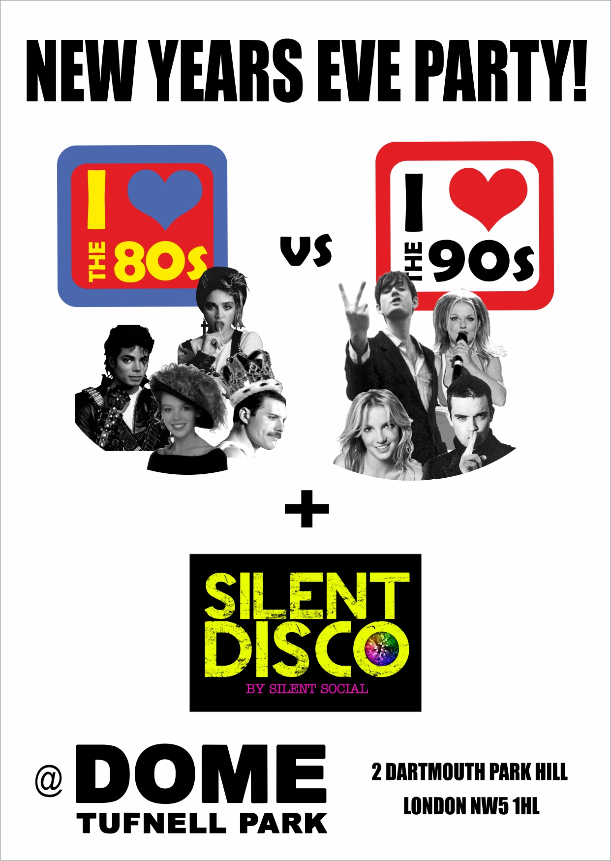 80s vs 90s vs Silent Disco - New Years Eve