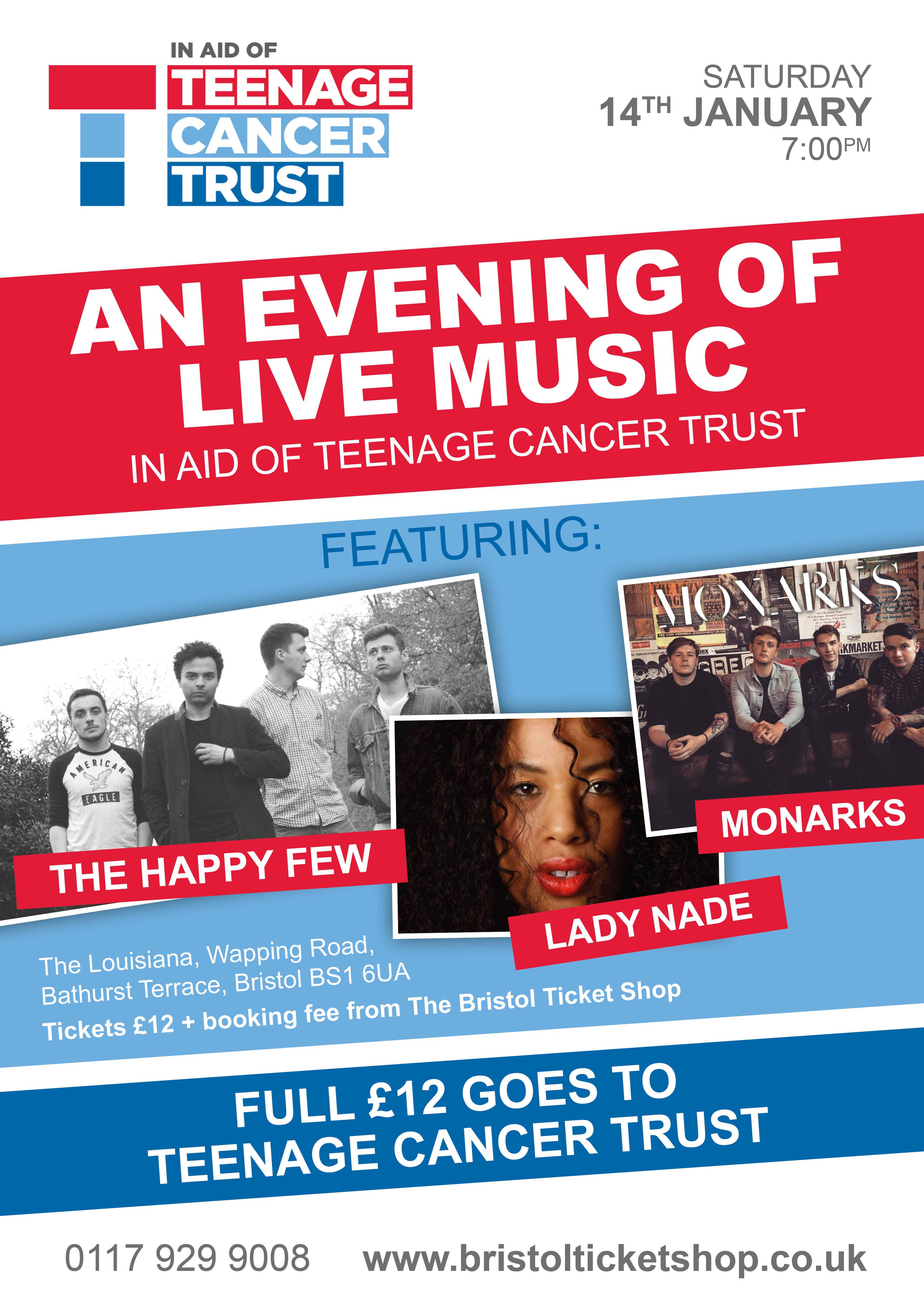Live Music at The Louisiana in aid of the Teenage Cancer Trust