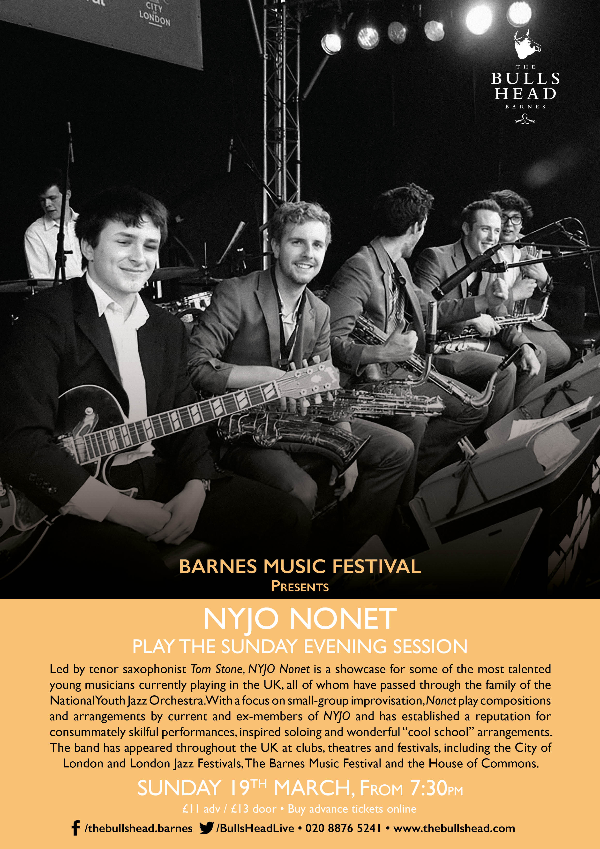 National Youth Jazz Orchestra Nonet led by Tom Stone