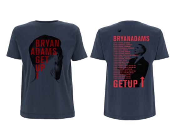 Back Side 2017 - Blue Tee - Bryan Adams