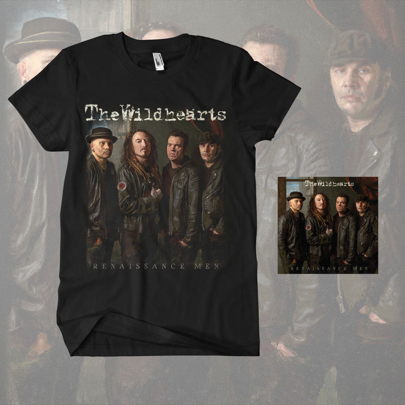 The Wildhearts - 'Renaissance Men' Jewelcase CD & T-Shirt Bundle - The Wildhearts