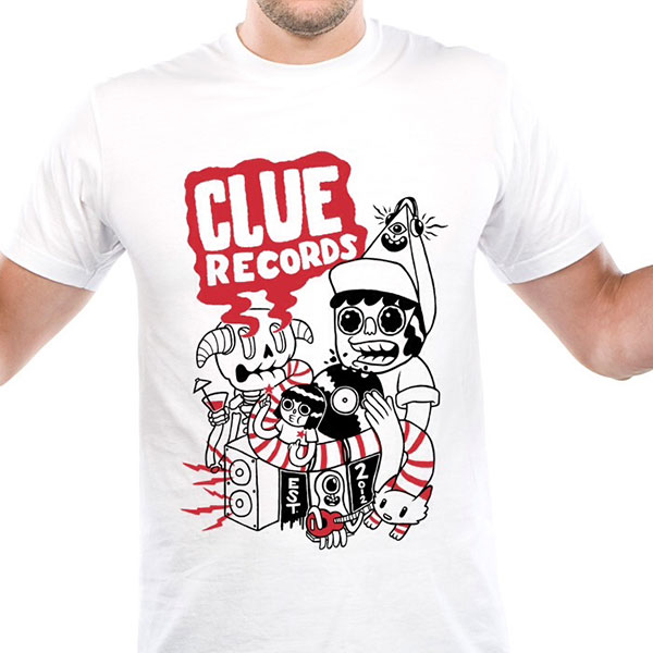 Clue Records T-Shirt (TOMMINGS DESIGN) - Clue Records