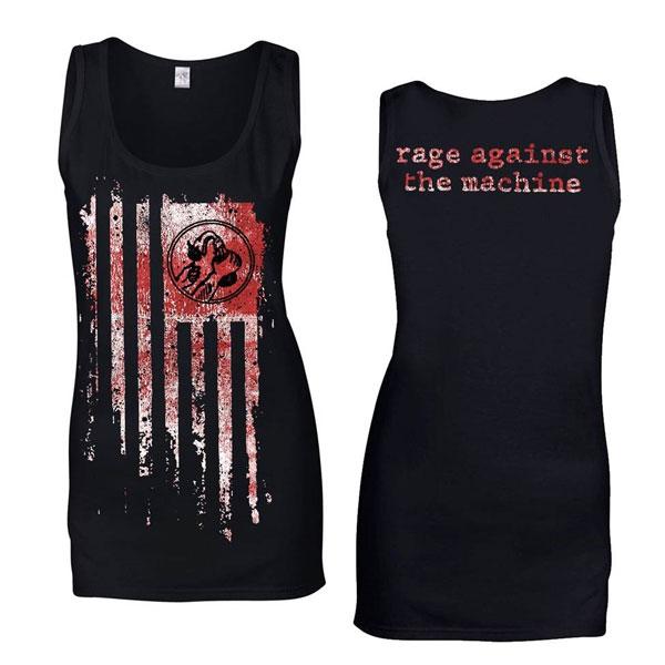 Molotov Flag - Girls Black Vest - Rage Against the Machine