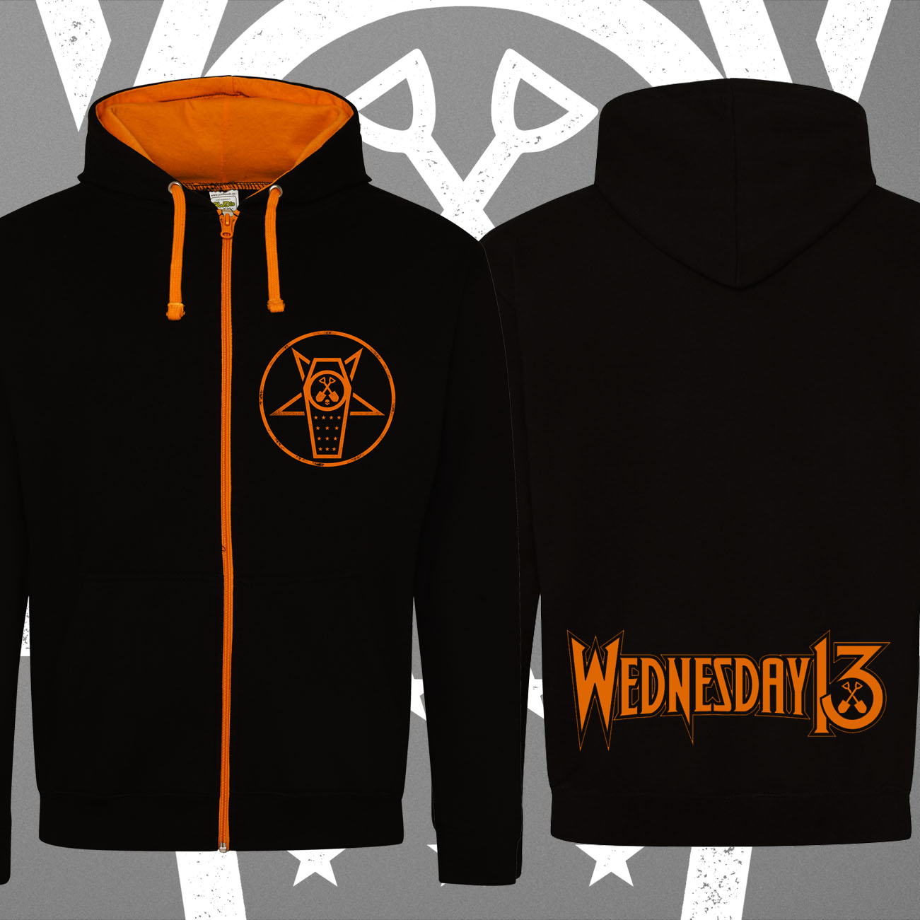 Wednesday 13 - 'Casket' Zip Hoody - Wednesday13
