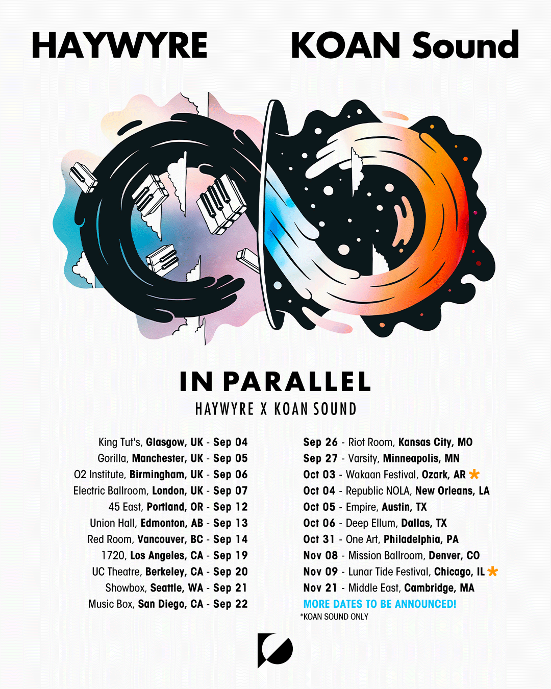 KOAN Sound 'In Parallel' with Haywyre at Music Box, San Diego on 22 Sep 2019