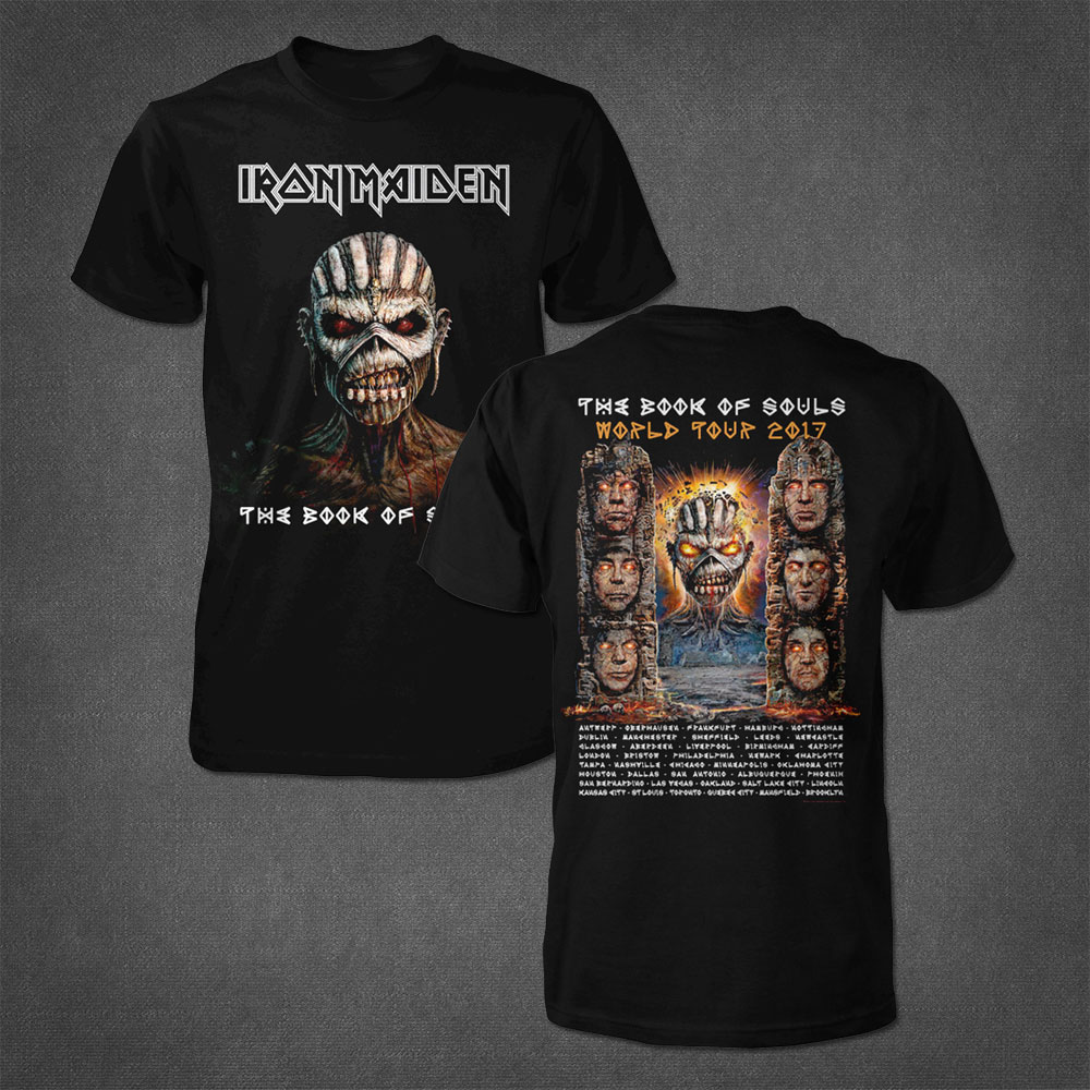 The Book Of Souls Cover 2017 Tour Tee - Iron Maiden [Global USA]