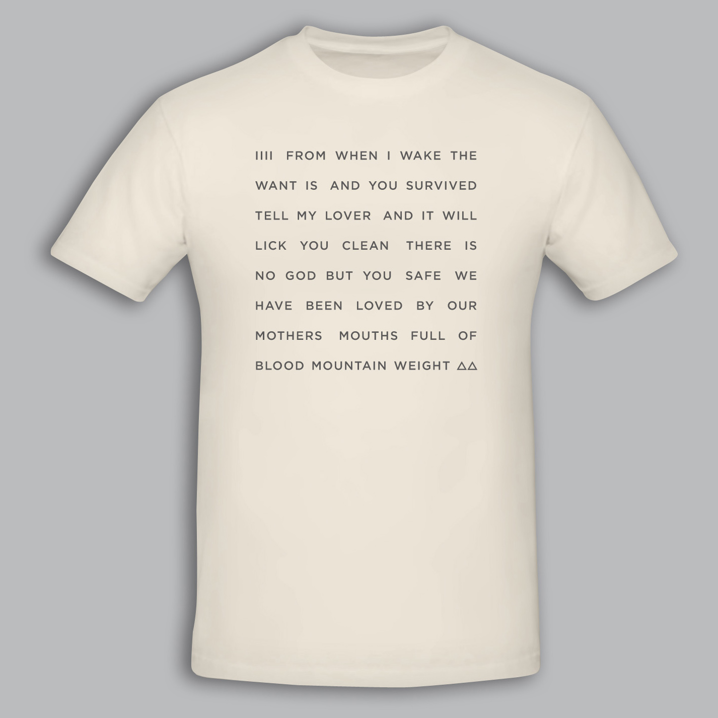 """Kathryn Joseph - Off White """"From When I Wake The Want Is"""" Text Tshirt - kathryn joseph"""