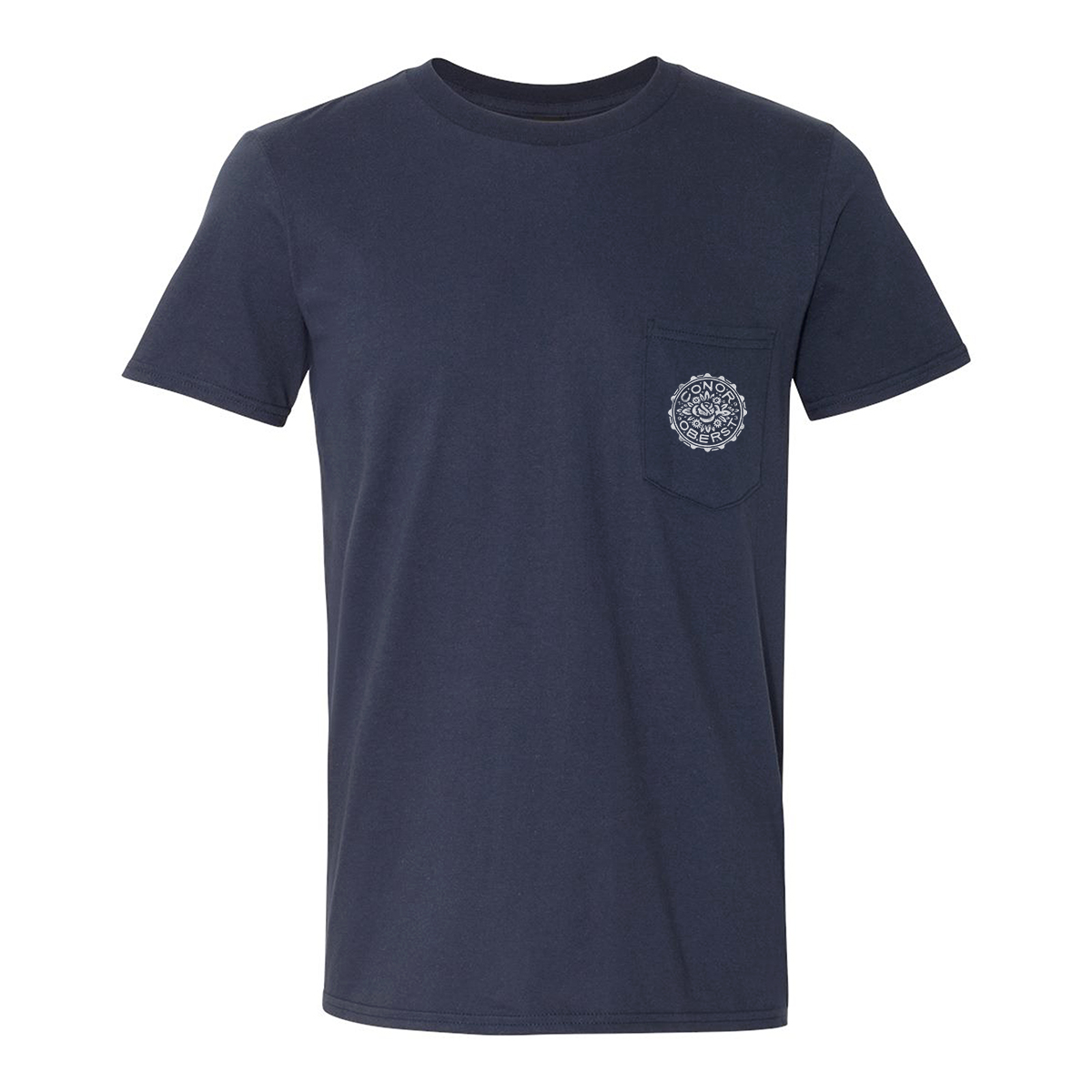 Floral Stamp Tee - Navy Tee - Conor Oberst