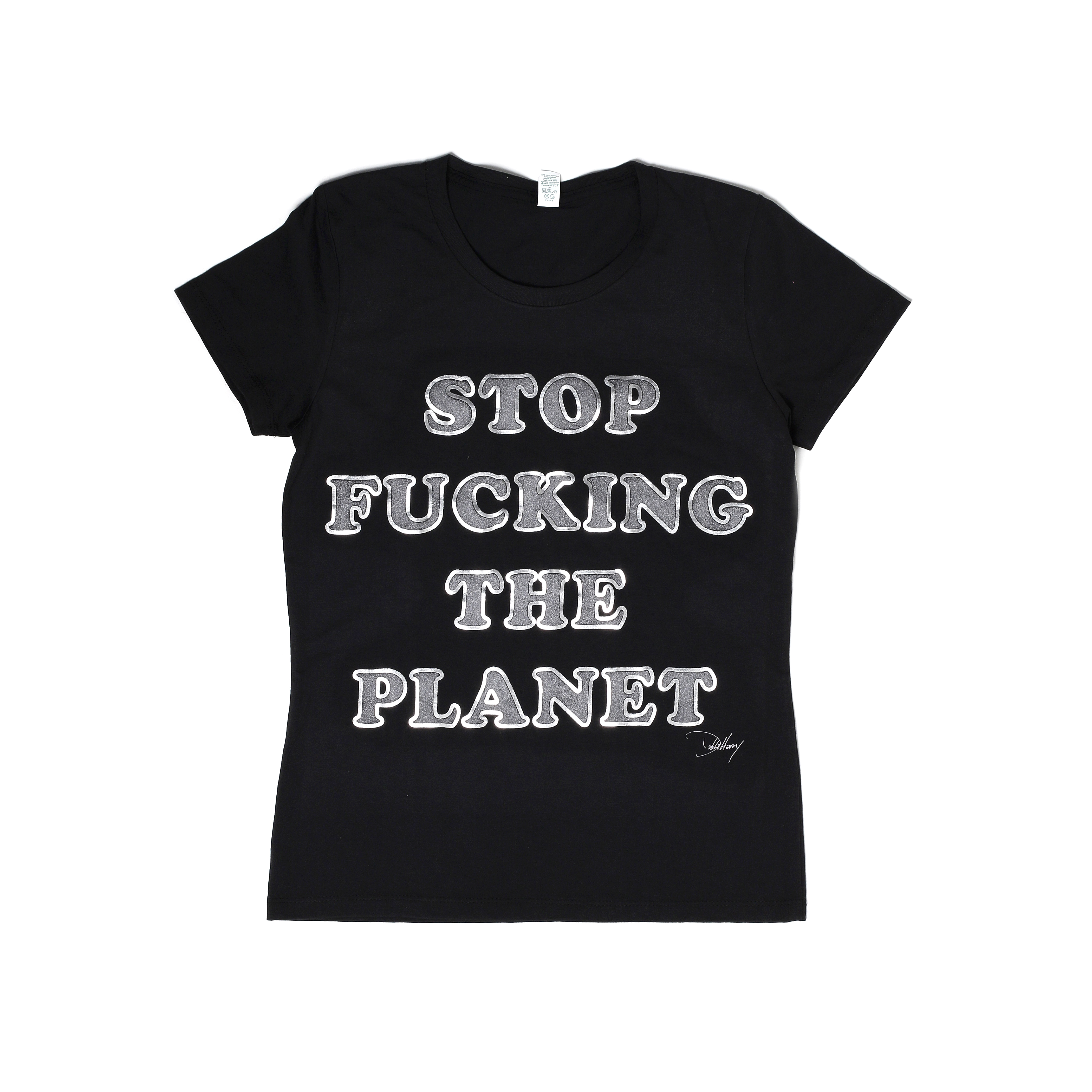 WOMENS STOP FUCKING THE PLANET TEE - BlondieUS