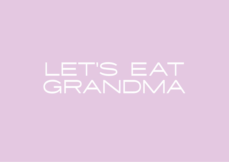 Let's Eat Grandma logo - Iron-on vinyl transfer - Let's Eat Grandma