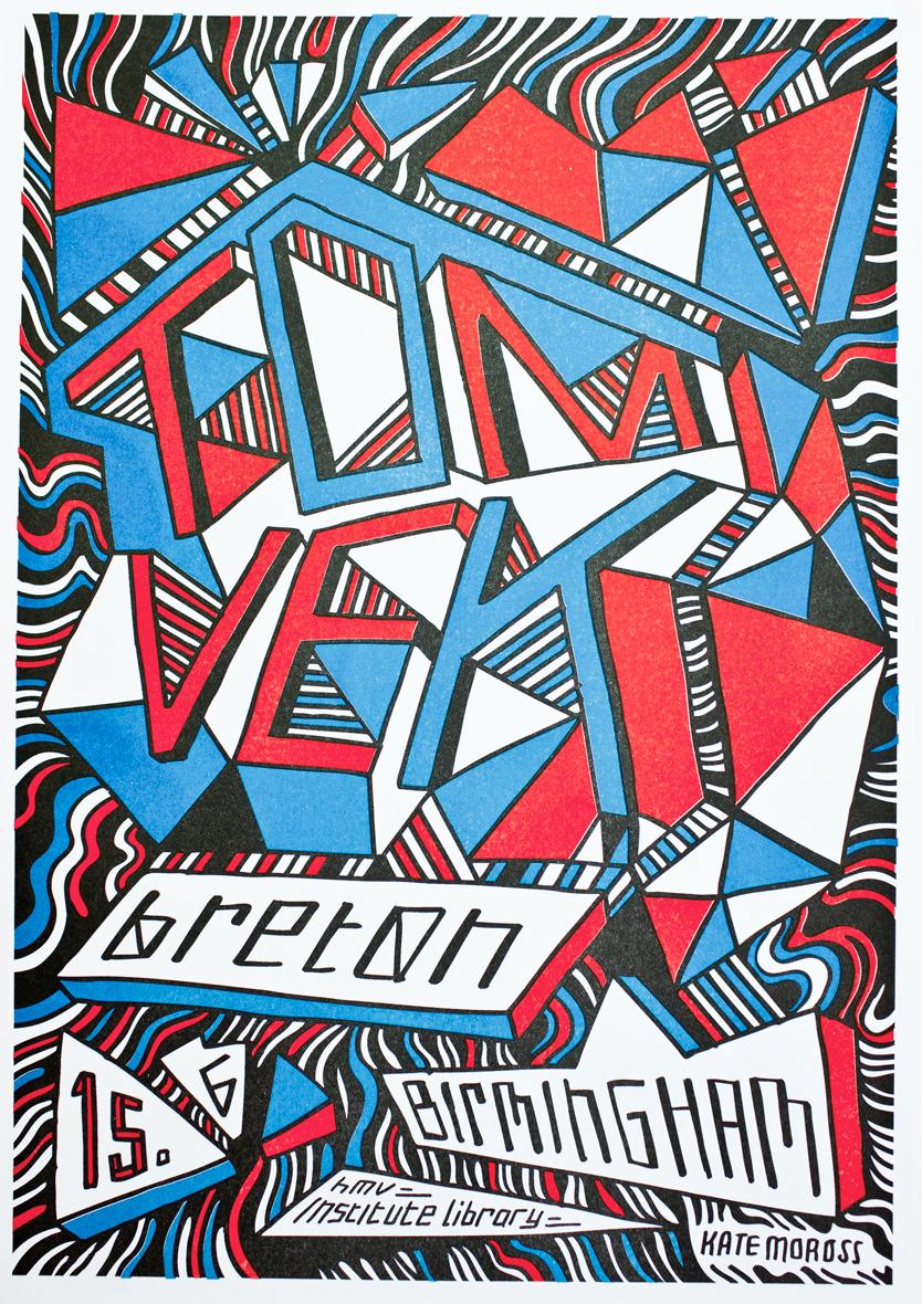 Live Poster - Kate Moross - Birmingham (A3) - Tom Vek