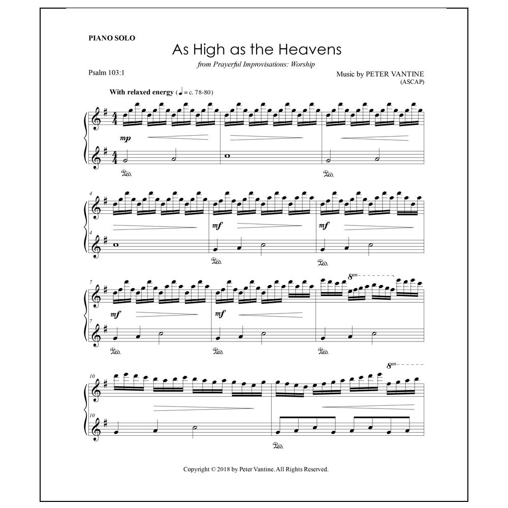 As High as the Heavens (sheet music download) - Peter Vantine