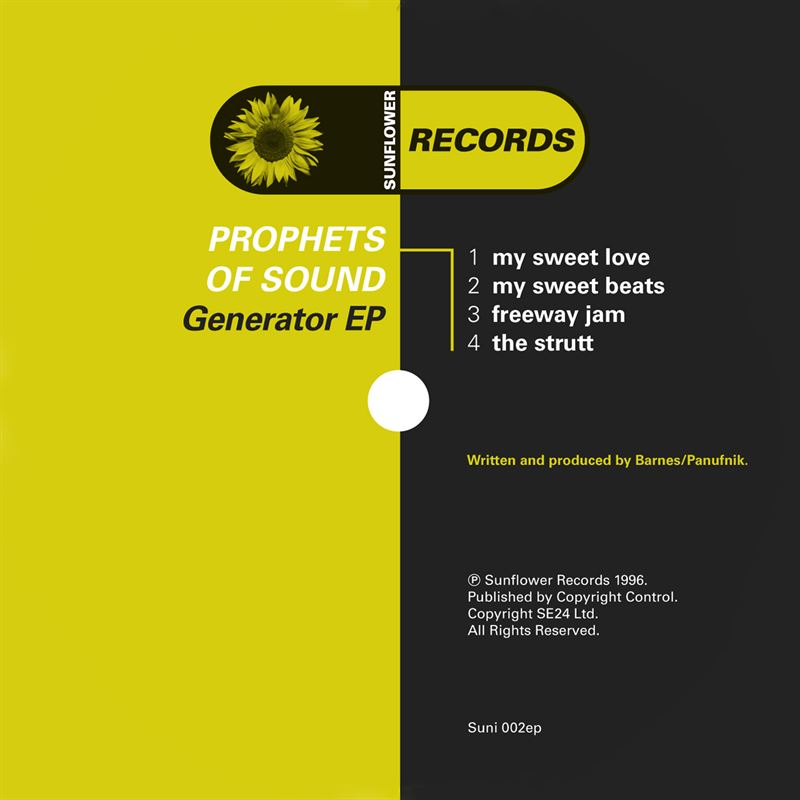 Prophets of Sound - Generator (CD) [SUNI02] - Sunflower Records