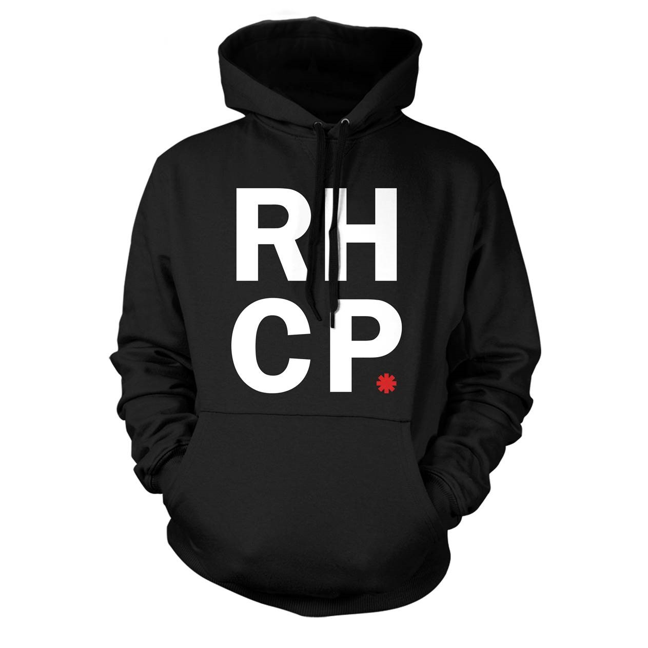 Stacked Asterisk - Men's Pullover Hood Black - Red Hot Chili Peppers