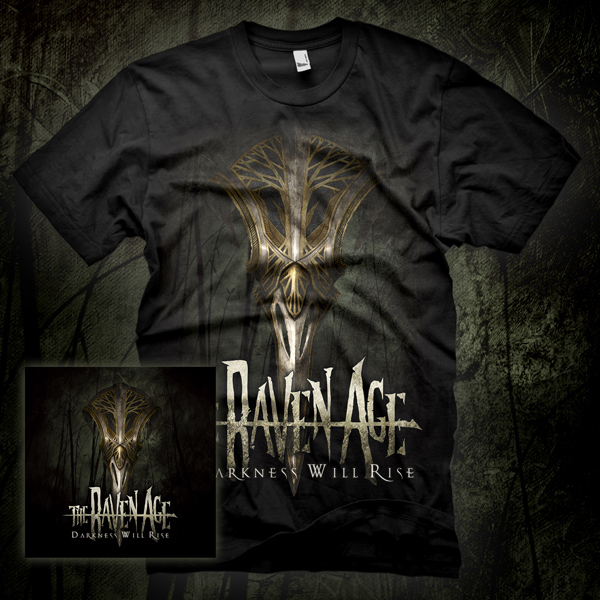 'Darkness Will Rise' CD & T-Shirt Pack - The Raven Age
