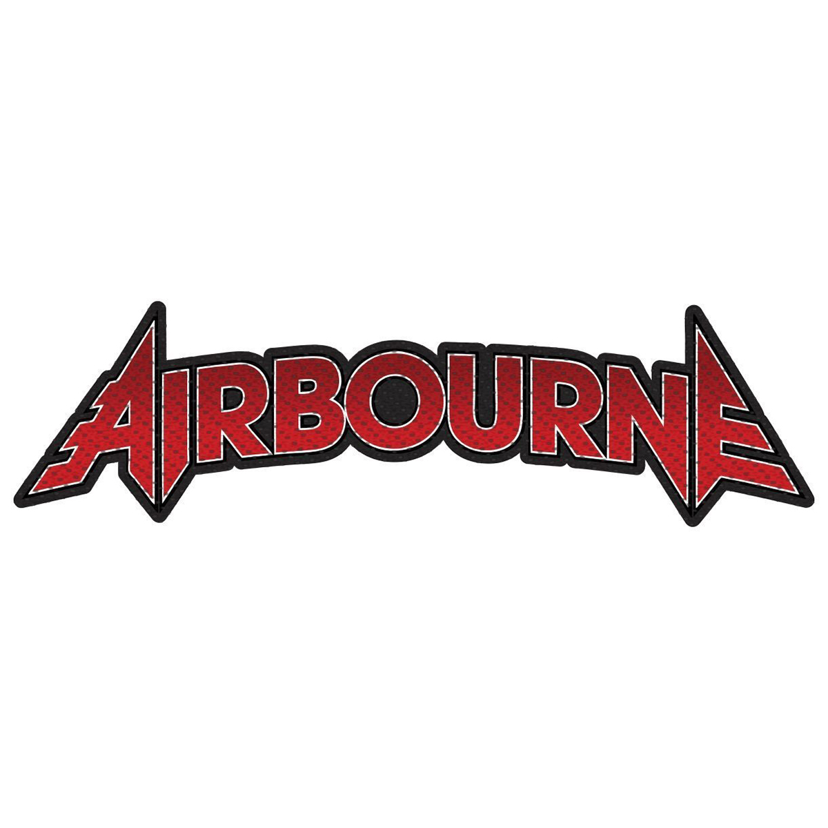 Airbourne - Red Logo – Woven Patch - Airbourne