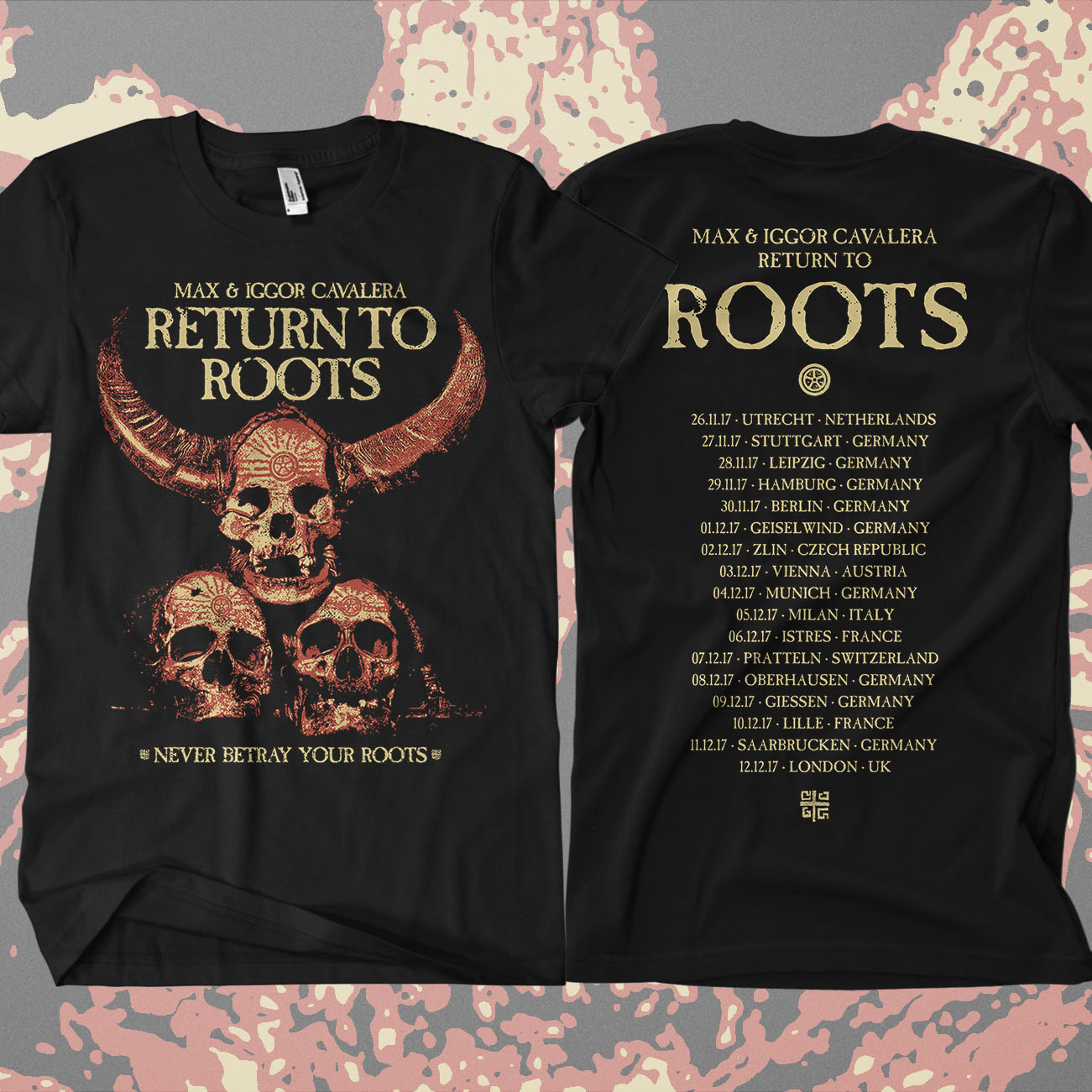 Return to Roots - 'Never Betray Your Roots' T-Shirt - Soulfly