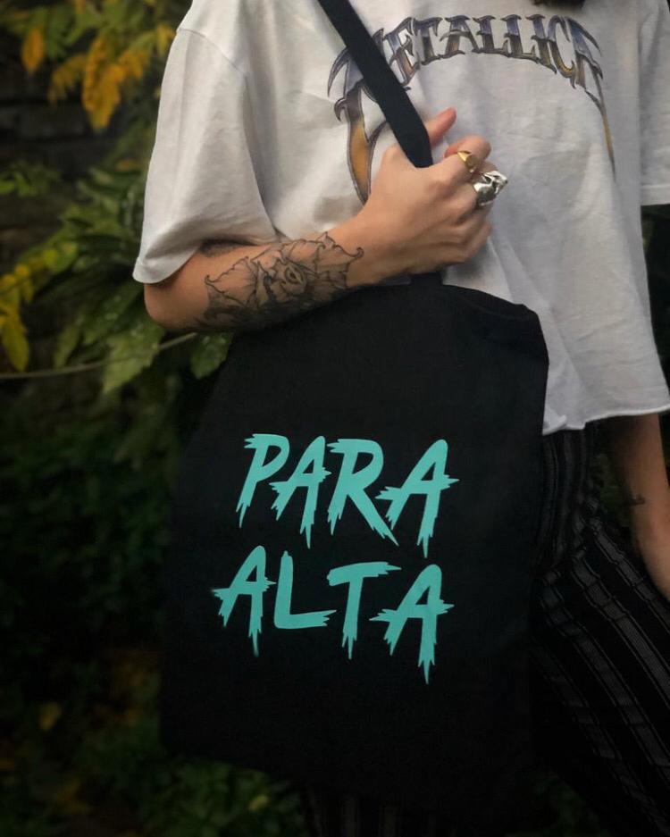 'PARA ALTA' Tote Bag (Black) - PARA ALTA