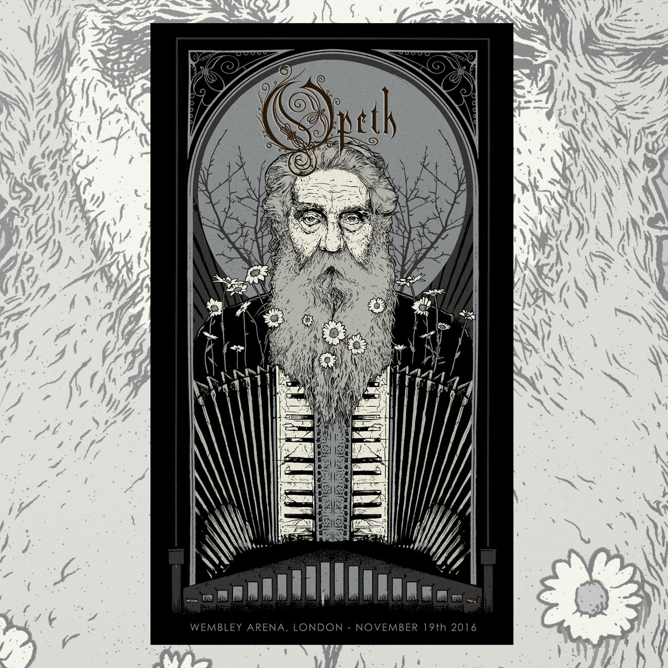 Opeth - Limited 'Silver Edition' Wembley Prints - Opeth