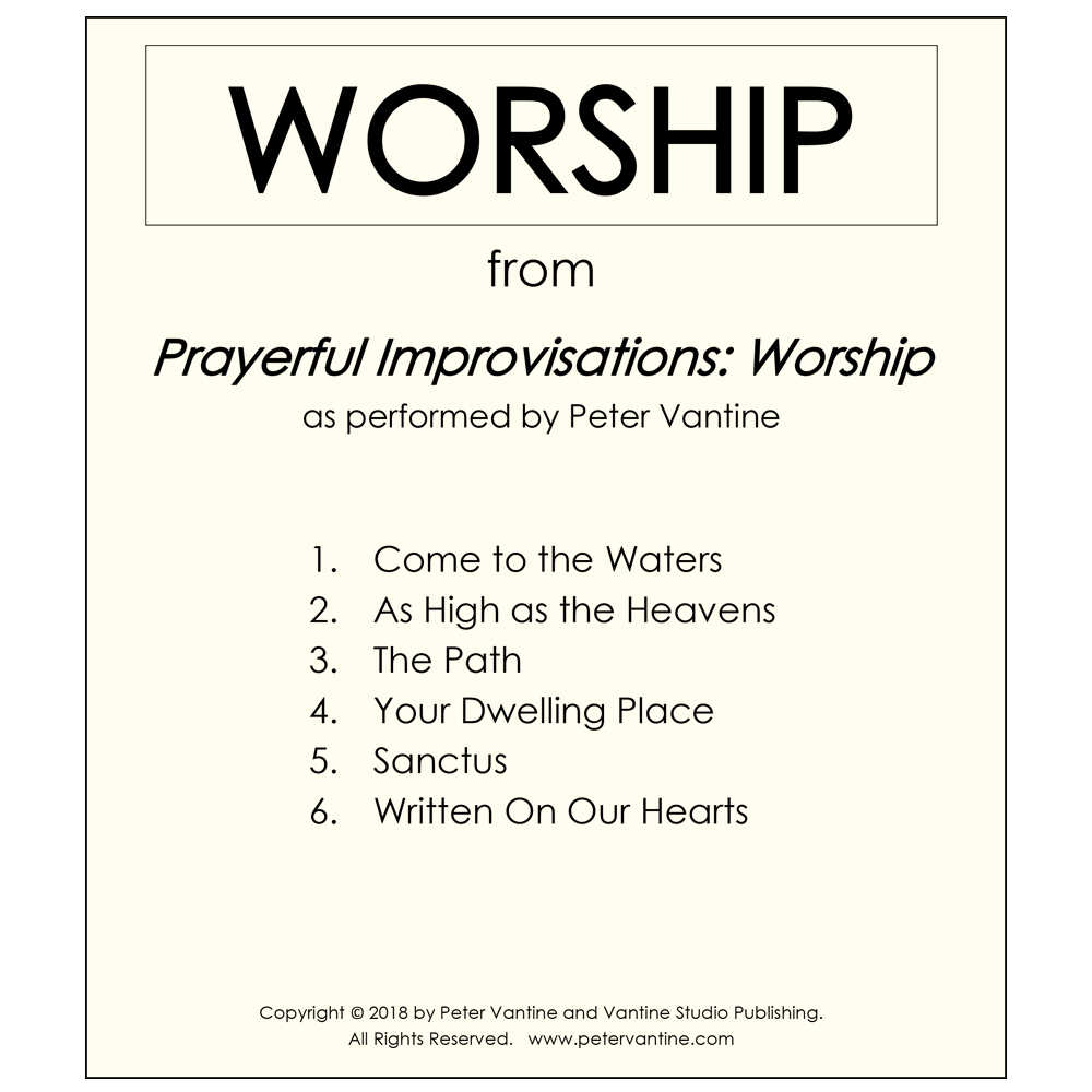 Prayerful Improvisations: Worship Collection (sheet music download) - Peter Vantine