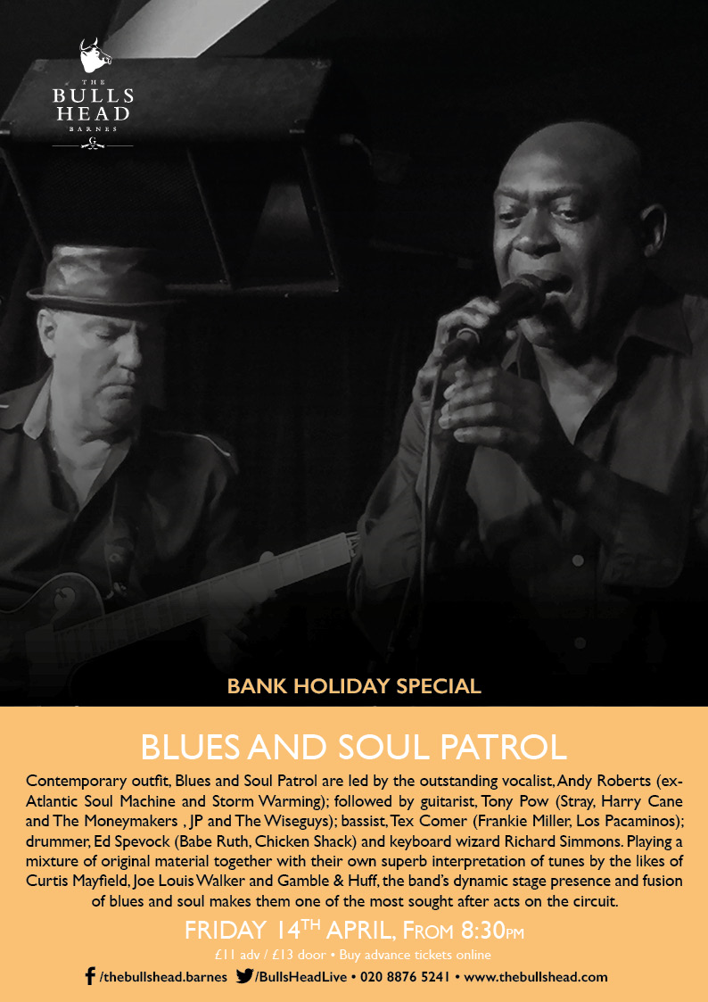 Bank Holiday Blues Special With Blues & Soul Patrol