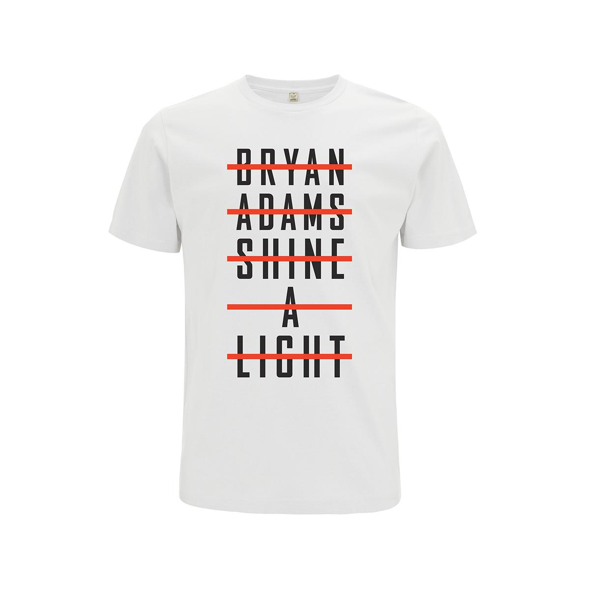 Stacked Type Logo - White Tee - Bryan Adams