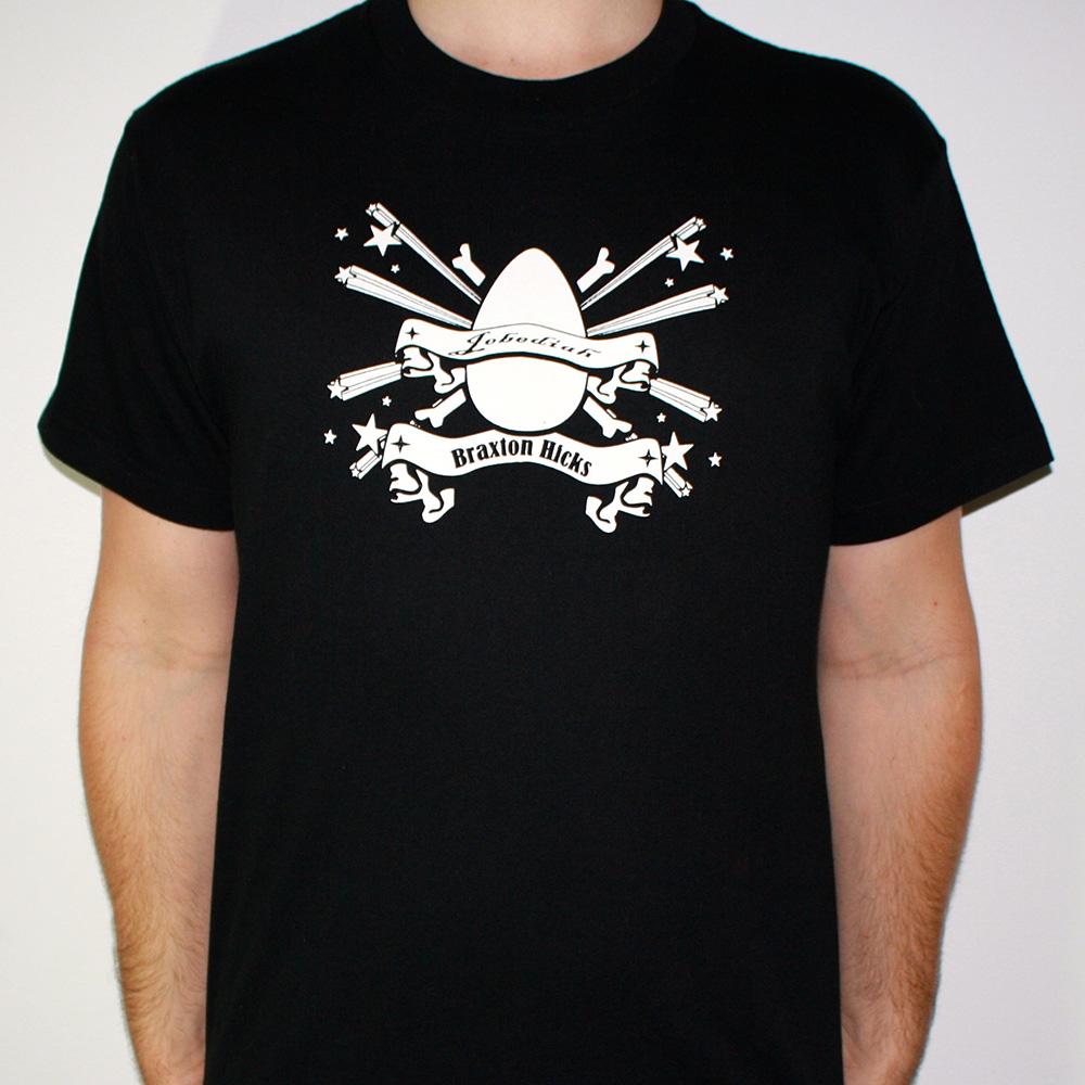 Braxton Hicks - Black T-Shirt - Jebediah