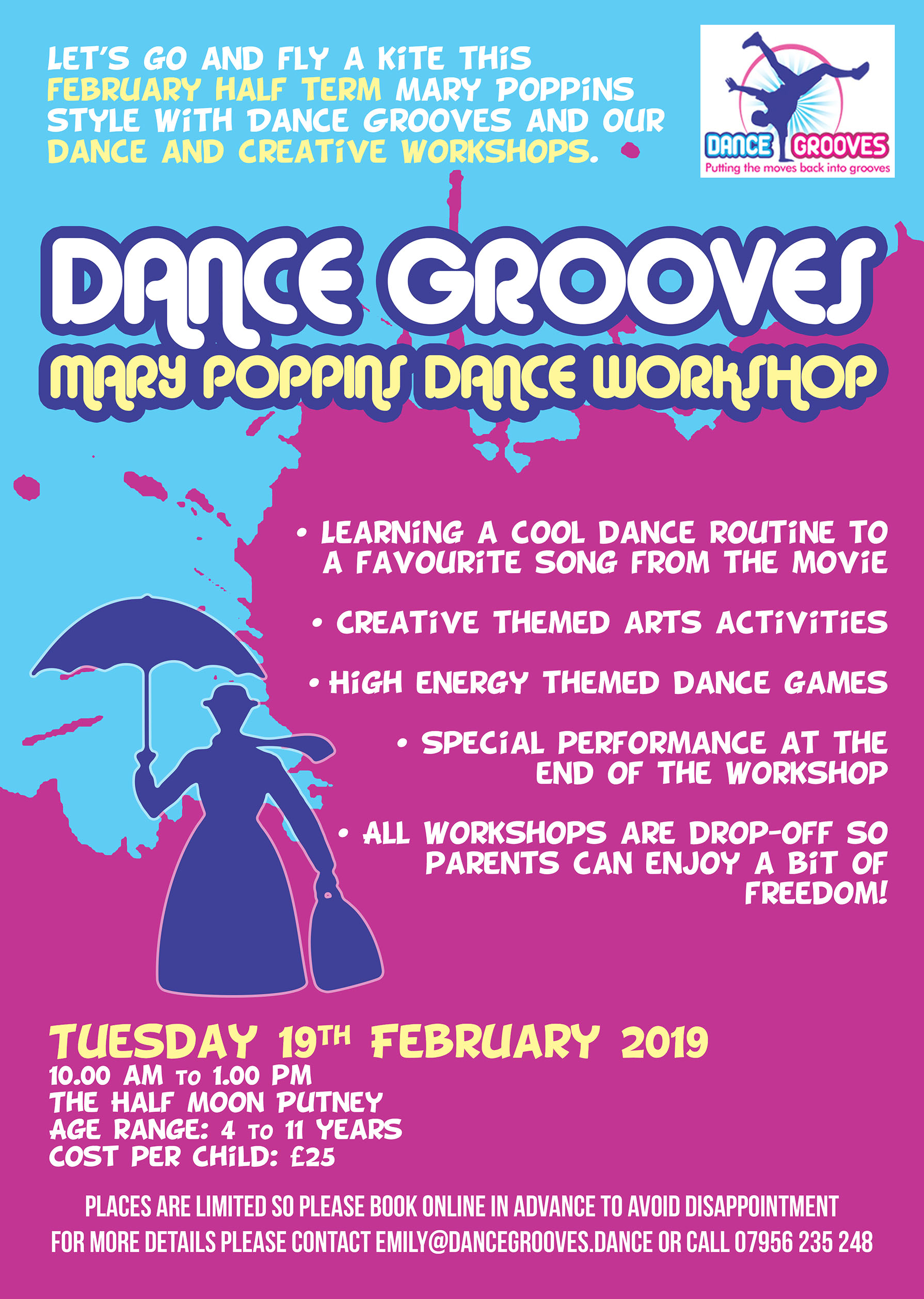 Mary Poppins themed Dance & Creative Half Term Workshop at