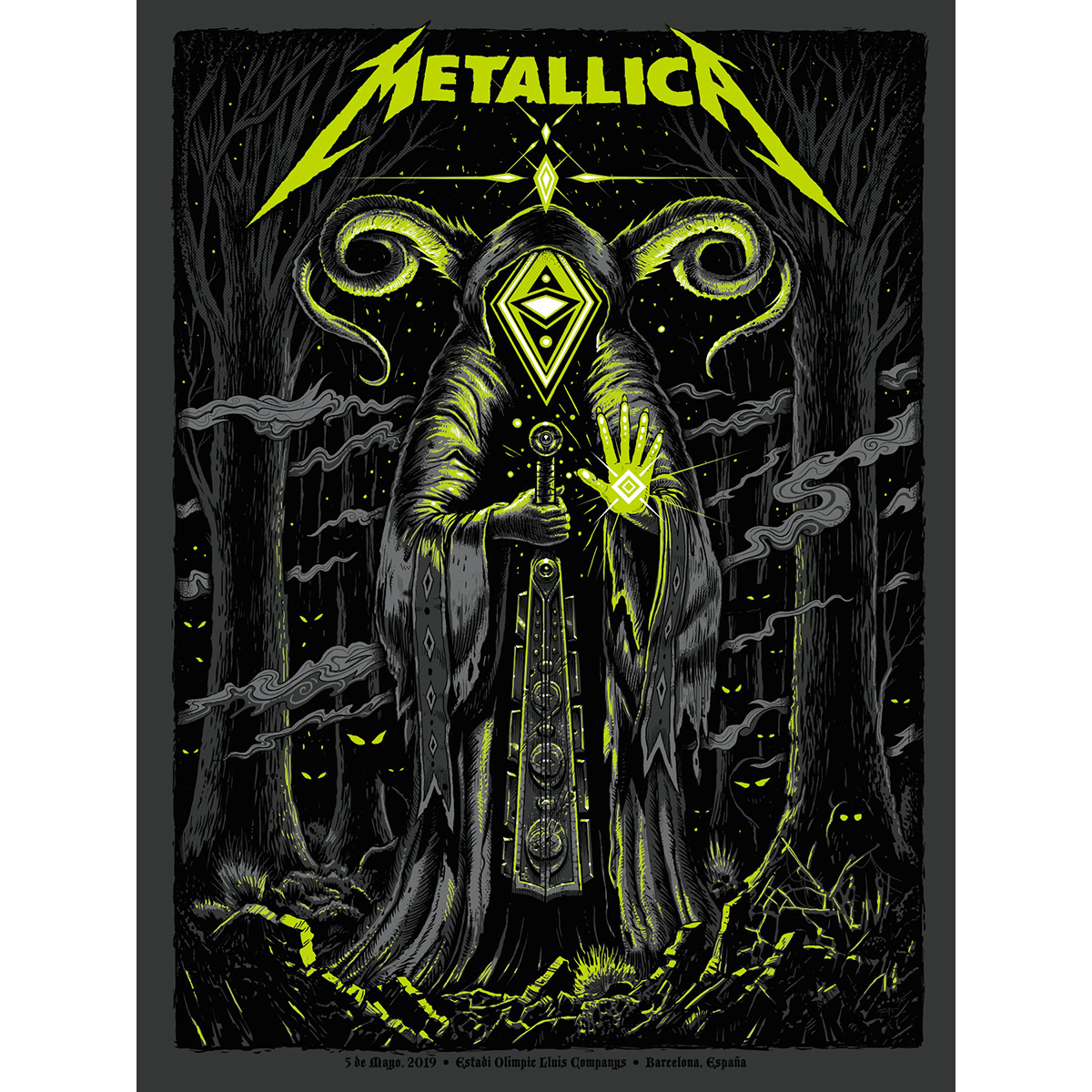 Barcelona May 5th – Limited Edition Numbered Screen Printed Event Poster - Metallica