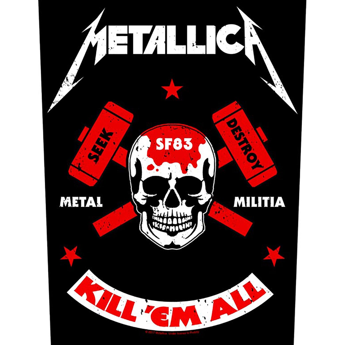 Metal Militia – Back Patch - Metallica
