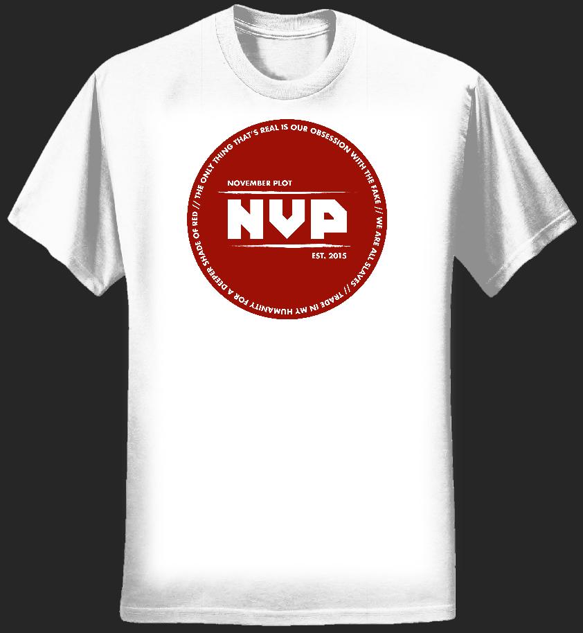 """Deeper Shade of Red"" White Shirt – Womens - NOVEMBER PLOT"