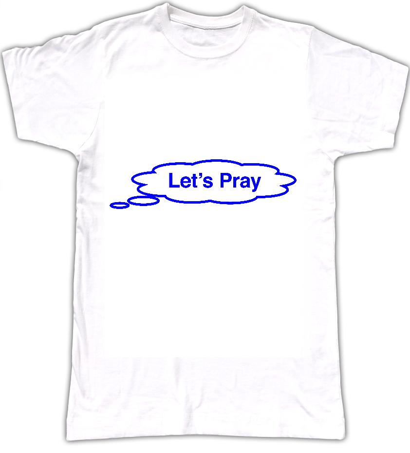 Let's Pray T-shirt - Tom Vek