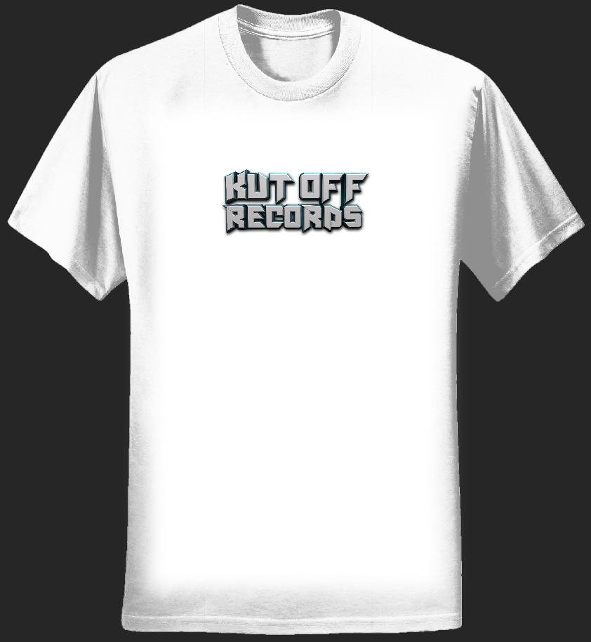 Men's White Kut Off Logo T-Shirt - KUT OFF RECORDS