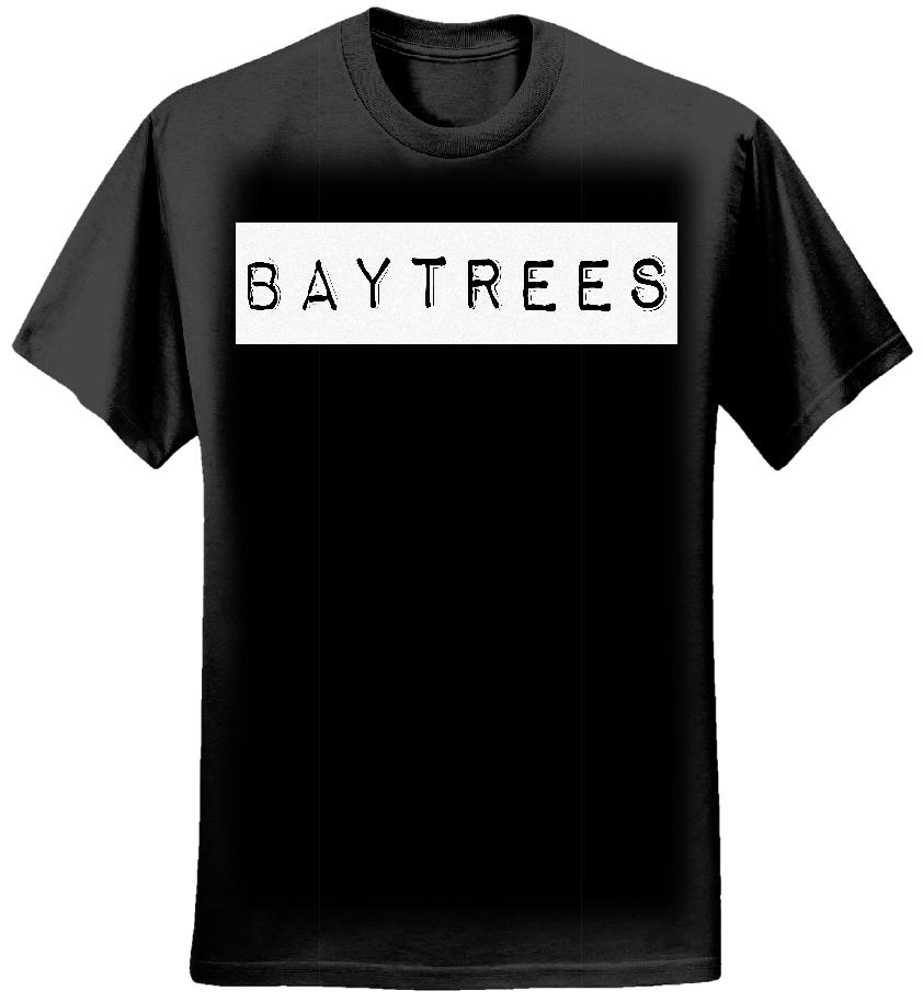 Black T-Shirt/White Logo - Baytrees